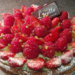 Tarte fraises framboises de Lorette
