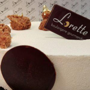 NUAGE, entremets vanille speculoos caramel de Lorette