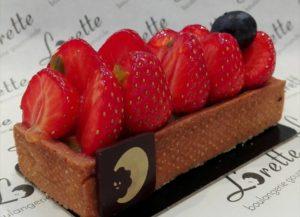 Tartelette aux fraises de Lorette