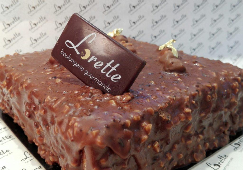L'ECUREUIL, entremet praliné noisettes chocolat de Lorette
