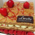 Millefeuilles aux fraises de Lorette