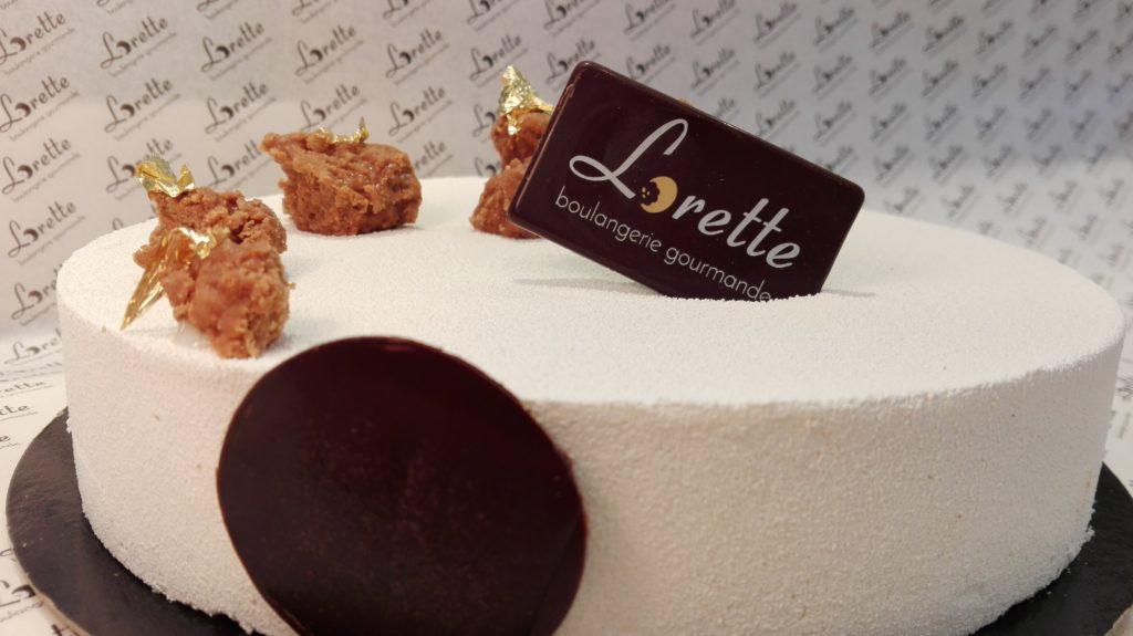NUAGE, entremet speculoos vanille caramel de Lorette