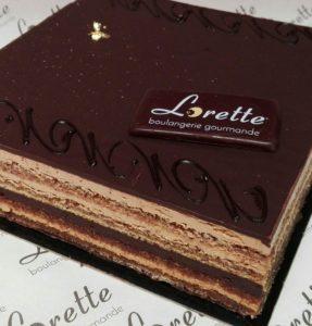 L'OPERA, entremets chocolat café de Lorette