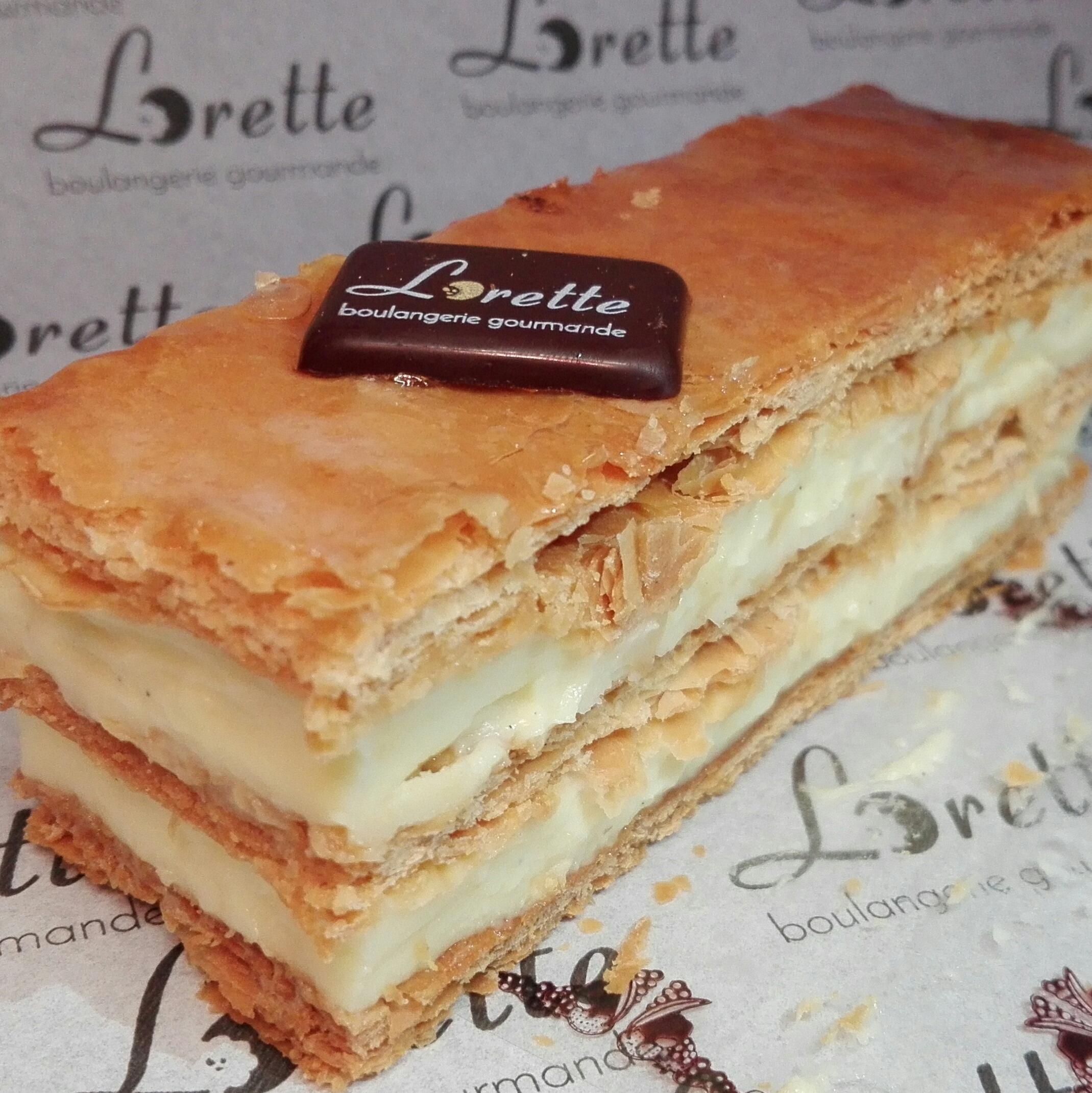 Millefeuilles vanille de Lorette