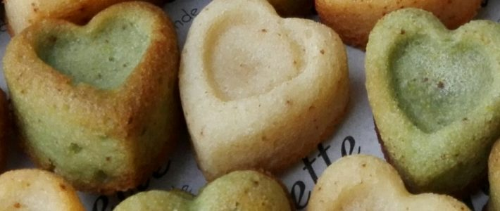 Mini financiers Saint Valentin de Lorette