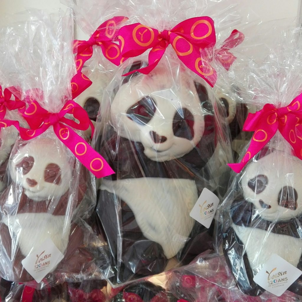 Panda en chocolat Voisin