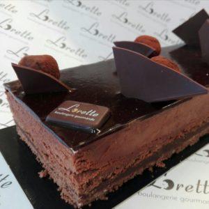 Le TRUFFE, entremets chocolat intense de Lorette