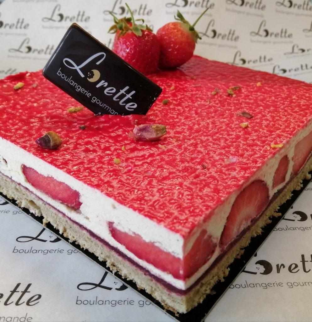 Fraisier de Lorette boulangerie Paris