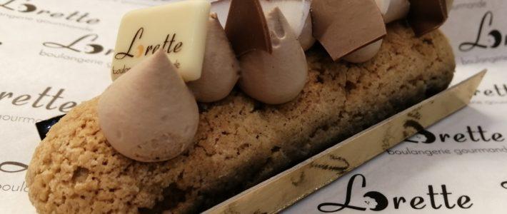 Eclair noix de coco chocolat au lait de Lorette