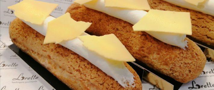 Eclair aux agrumes de Lorette, boulangerie à Paris