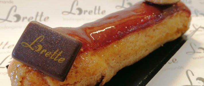 Eclair sirop d'érable et figue de Lorette, boulangerie à Paris